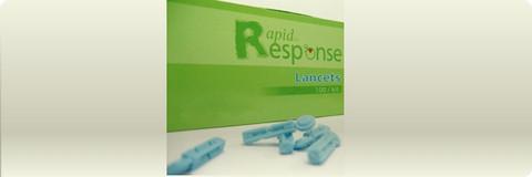 Rapid Response Blood Glucose Lancets