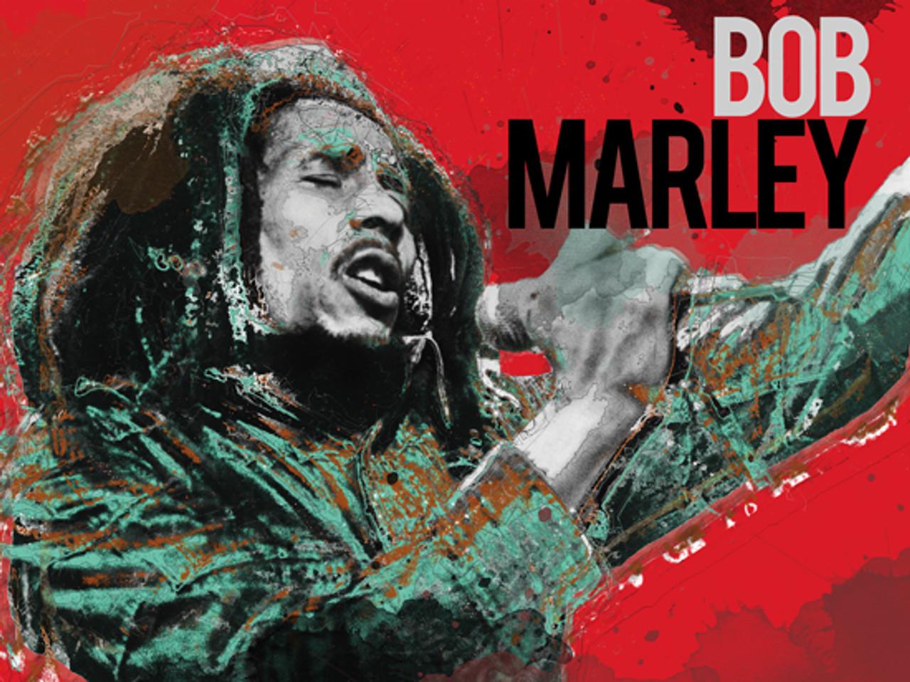Bob Marley Poster Music Art Print