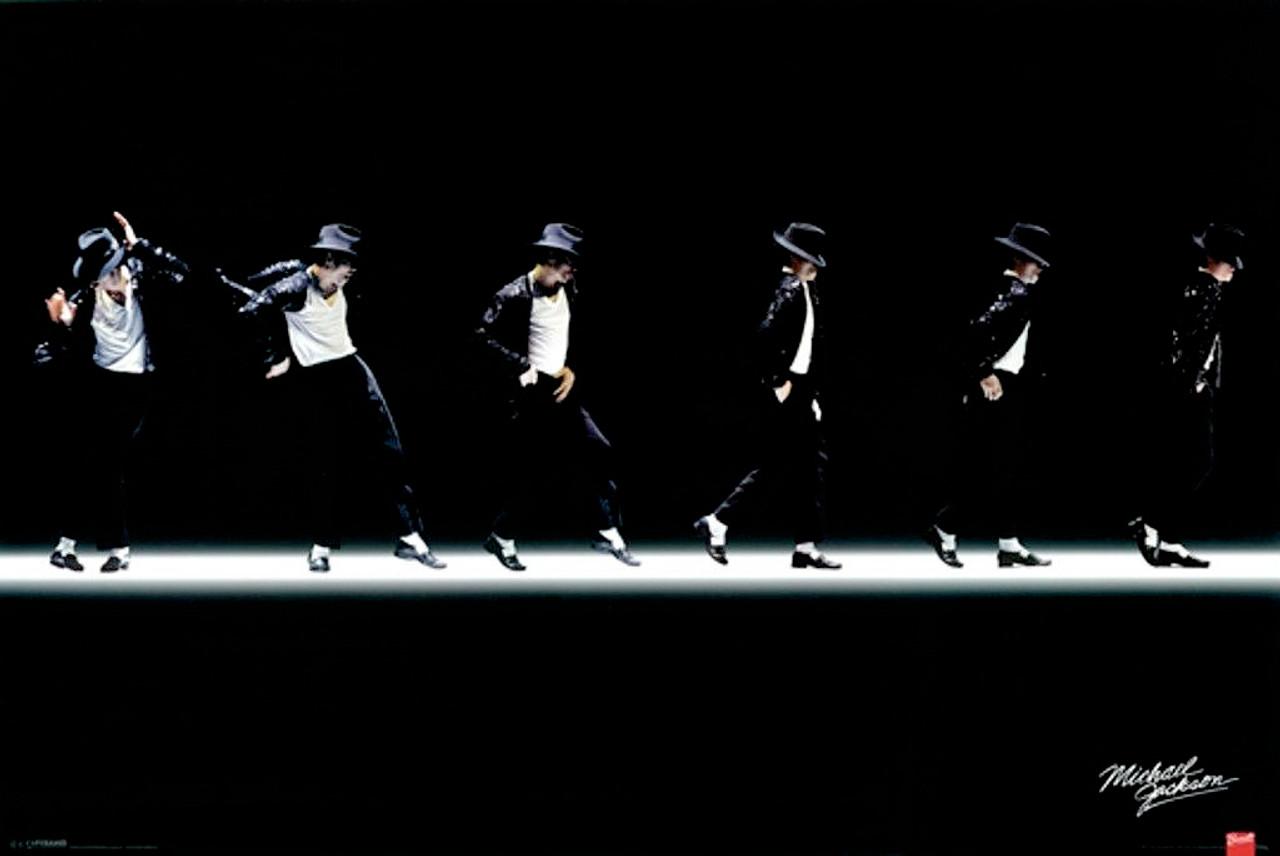 Michael Jackson Moonwalk Dance Poster