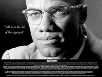 Malcolm X Poster Truth is On Side of the Oppressed