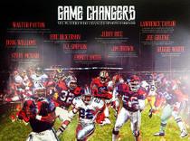 Football Poster Black Sports History (18x24)