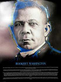 Booker T Washington Poster with Biography (18x24)