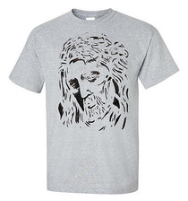 Jesus T-Shirt Christ Messiah Unisex Tee (Grey)
