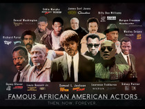 Famous African American Actors Poster Art Print (18x24)