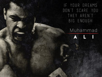 Muhammad Ali Poster Dream Big Quote Art Print (18x24).