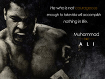 Muhammad Ali Poster Be Courageous Quote Art Print (18x24).