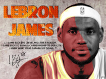 LeBron James Poster Back to Cavs Quote Art Print (18x24).