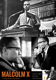 Malcolm X Poster Human Rights Activist Black History Photos Print.