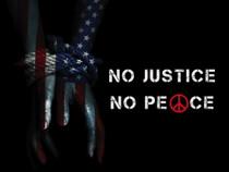 No Justice No Peace poster.
