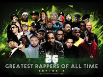 25 greatest rappers of all time poster.