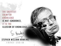 Stephen Hawking poster.