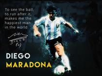 Diego Maradona poster.