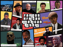 Famous African American Actors Poster Art Print.