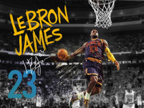 LeBron James Poster Cleveland Cavaliers 23 Photo Art Print