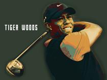 Tiger Woods Poster Golf Art Print