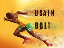 Usain Bolt Poster Running Fast Lightning Art Print