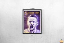 Stephen Curry Poster Golden State Warriors Basketball Art Print