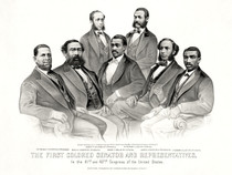 First African American Senator and Representatives Poster Reconstruction Era 1872 Black History