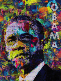 Barack Obama Poster Color Art Print