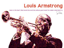 Louis Armstrong Poster Music is Life Itself Quote Art Print