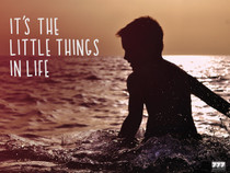 It's the Little Things in Life Poster Inspirational Wall Print