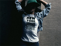 New York City Unisex T-Shirt 5 Boroughs Tee Manhattan Bronx Queens Brooklyn Staten Island (White)