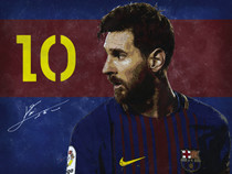 Lionel Messi Poster Soccer Football Wall Art Print