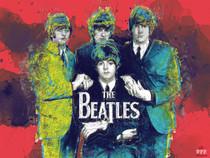 The Beatles Poster Music Wall Art Print