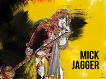 Mick Jagger Poster Music Wall Art Print