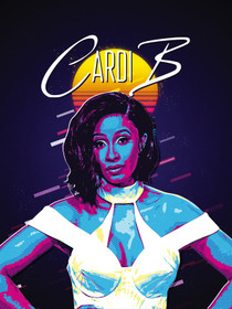 Cardi B Poster Music Wall Art Print