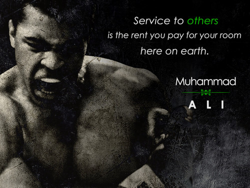 Muhammad Ali Poster Service to Others Quote Art Print.