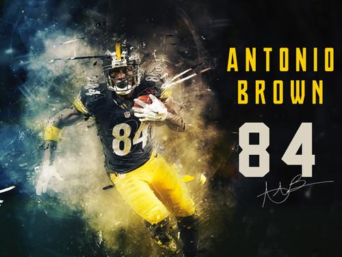 Antonio Brown Pittsburgh Steelers poster