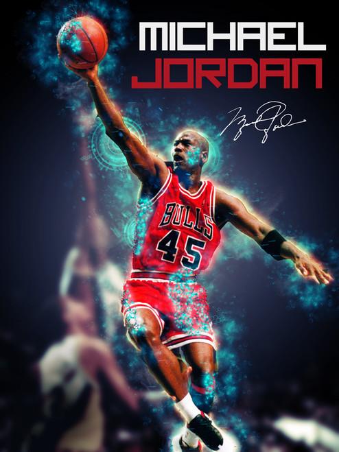 Michael Jordan Poster Chicago Bulls Art Print (18x24).