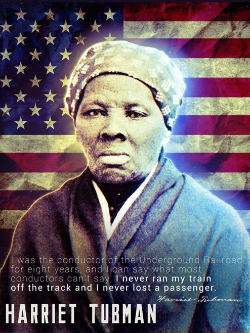 Harriet Tubman Poster Underground Railroad Classroom Quote