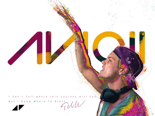 Avicii Poster I Can't Tell Where This Journey Will End Quote Music Art Print