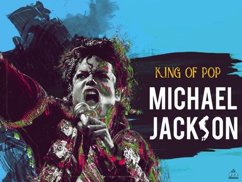 Michael Jackson King of Pop Music Poster.