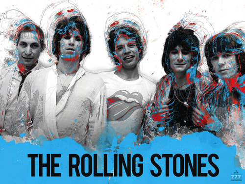 The Rolling Stones Poster Music Wall Art Print
