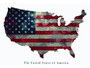 American Flag Poster USA United States of America Wall Art Print
