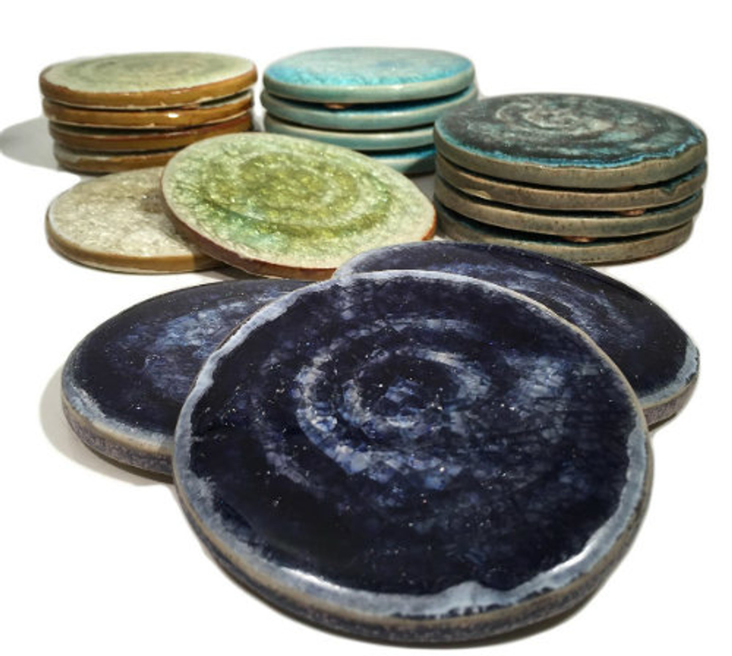Gift Ideas For The Home And Office Vibrant Glass Coasters