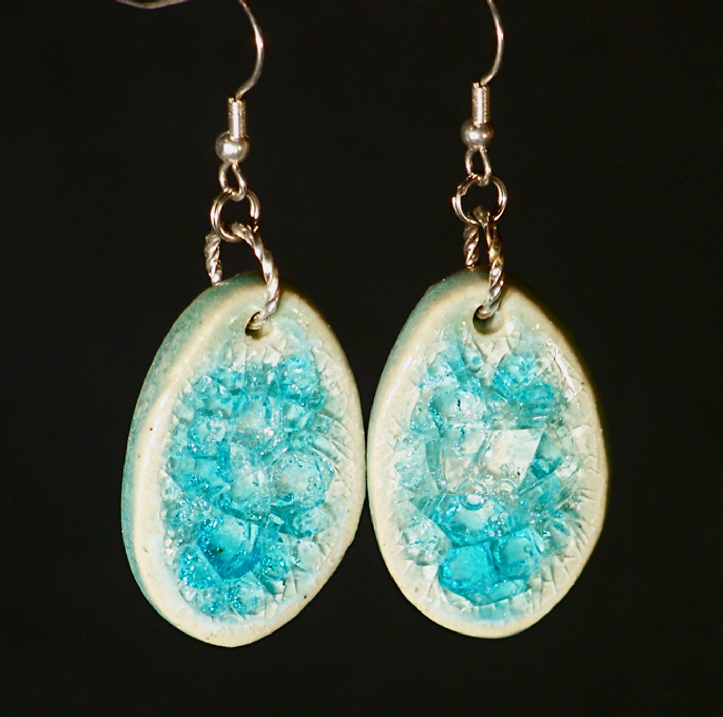 Oval Dangle Earrings & Eco Jewelry Sets