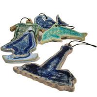 ornaments beach glass