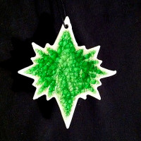 North Star Ornament - Blanco Verde