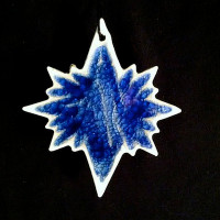 North Star Ornament - Blanco Azul