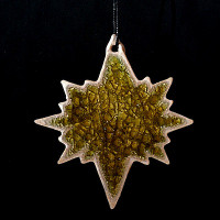 North Star Ornament - Blanco Dorado
