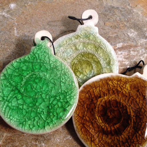 Christmas Ornaments Set of 3 assorted colors