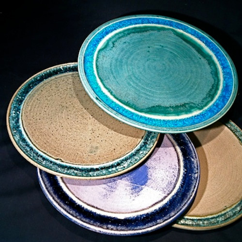 Recycled Glass Rim Platter and Chargers