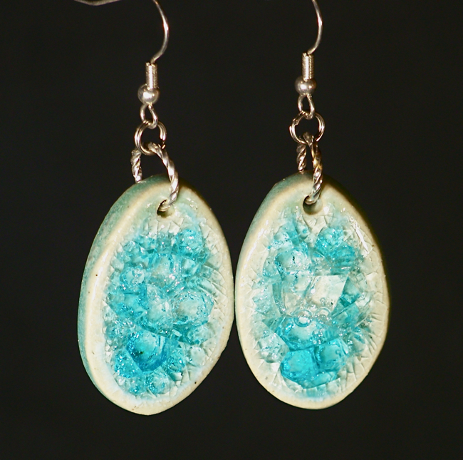 Artisan Eco Jewelry Amp Gems Recycled Glass Earrings