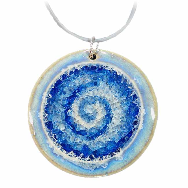 Stunning necklace pendants crushed beach glass blue glass necklace aloadofball Gallery