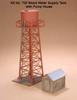American Model Builders HO 720 Laser-cut Wood Kit, Wood Water Tank with Pump House (d)