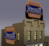 Miller Engineering N/HO 7582 Small Rexall Billboard, Animated Neon Style Sign Kit